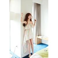 2018夏装韩版新款甜美气质彩色沙滩裙长裙修身显瘦抹胸雪纺连衣裙 图片色 配肩带 均码