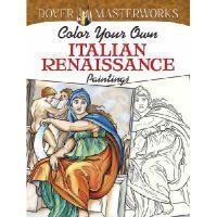 【预订】Color Your Own Italian Renaissance Paintings