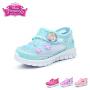 迪士尼Disney童鞋18新款儿童运动鞋甜美公主单网透气户外休闲鞋女童校园学生鞋 (5-10岁可选)DS2761