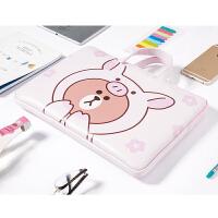 苹果戴尔华硕macbook13寸13.3女笔记本内胆包手提14/15.6寸电脑包 粉红色