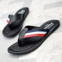 拖鞋男夏韩版潮外穿凉拖防滑户外沙滩鞋室外皮凉鞋个性人字拖
