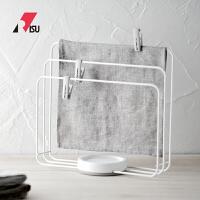 RISU日本抹布晾晒架厨房挂洗碗布的架子清洁布收纳置物架带夹子