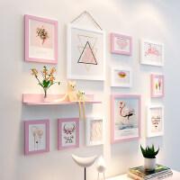 少女房间装饰照片墙创意墙上相框墙组合连体挂墙一面墙个性相片墙 粉色之爱(PS-010)