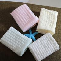 蜂巢毛巾棉洗脸巾华夫格棉花糖大面巾柔软吸水全棉纱布童巾