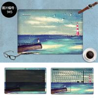 神舟K680E笔记本贴膜Z6 Z7M K670E K610D K650D电脑贴纸15.6寸 SC-945 三面+键盘贴