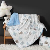 婴儿被子秋冬儿童幼儿园午睡被四季通用新生宝宝小被子冬季厚