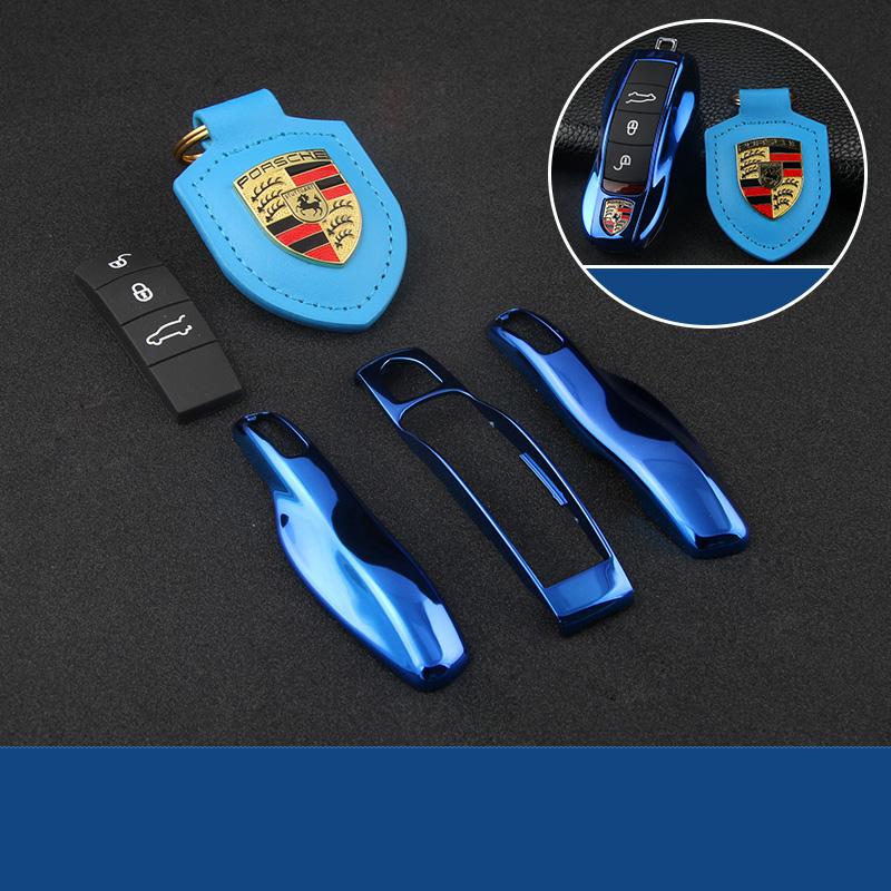 保时捷车用钥匙壳改装扣macan卡宴panamera汽车钥匙包套