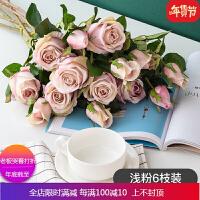 做旧仿真花保加利亚玫瑰花 欧式装饰拍摄插花假花绢花 自店营年货