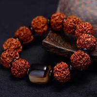 大6六瓣金刚菩提手串 尼泊尔男士菩提子手串 高密度文玩佛珠 手链