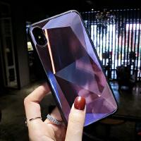 极光玻璃镜面iPhoneX手机壳苹果8plus网红6s镭射新款7P防摔女 iphone X