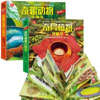 2本奇趣动物立体书揭秘动物植物3D立体科普翻翻书AR动物儿童百科全书揭秘系列幼儿科普书籍大全3-6-8探秘水陆植物世界
