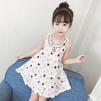 女童碎花纯棉连衣裙夏装新款夏季韩版儿童背心裙宝宝洋气裙子