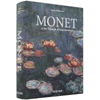 现货 Monet莫奈画册TASCHEN进口原版书籍 印象派油画艺术作品集画册 国外画家