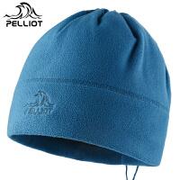 法国PELLIOT户外秋冬保暖透气抓绒帽滑雪帽骑行防风帽抗静电围脖