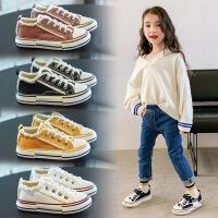 儿童帆布鞋2019夏季新款韩版百搭女童板鞋男童防滑休闲鞋子