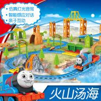 ??拖马斯小火车套装多层电动轨道赛车儿童玩具3男孩5-6岁4 充电版+充电电池+充电器