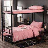 学校学生宿舍上下铺床单90床笠三件套1.0m单人一米五纯棉床上用品