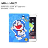 苹果ipad6 air2卡通哆啦a梦保护套ipad345皮套mini2卡通pro9.7