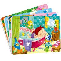 动手动脑玩拼图3-4岁全4册_小红花宝宝智力儿童拼图小红花童书畅销书 幼儿益智拼图 儿童畅销动手动脑益智书 我就要贴在