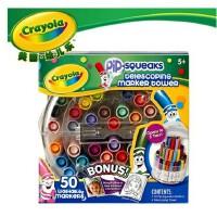 绘儿乐Crayola美国进口 50色可水洗短杆水彩笔伸缩塔58-8750