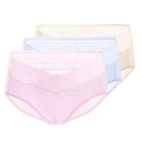 3条装孕妇内裤怀孕期低腰透气内衣纯棉里裆无2-6个月