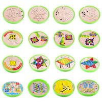 儿童亲子桌面游戏十六合一棋积木制玩具象棋斗兽棋军棋