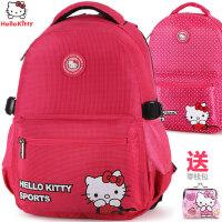 凯蒂猫女童小学生书包1-3-6年级hellokitty儿童背包女孩减负双肩