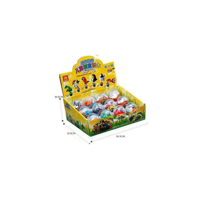 万格迷你动物扭蛋(小)乐高式益智塑料积木小颗粒儿童拼装玩具礼物