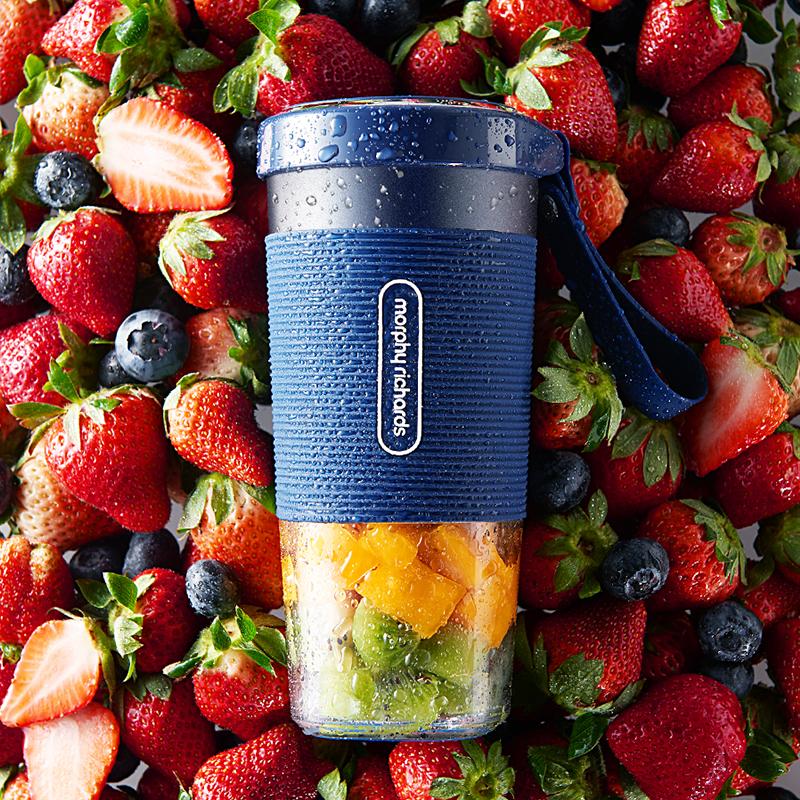 摩飞MR9600无线榨汁机充电式家用迷你便携式小型炸水果魔飞榨汁杯 预售 能充电榨汁的便携杯高颜值