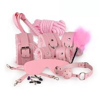 情趣用品SM女用男捆绑束缚手铐脚铐眼罩口塞皮鞭子性器具套装夫妻性用品玩具用品