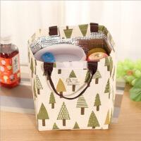 饭盒包大号可爱防水帆布手提保温便当包装午餐带饭袋子