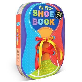 shoe book 小娃娃学系鞋带 tiny tots lace-up 0-3岁低幼儿童纸板手工