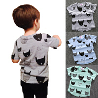 2018050022049802018新款童装男童韩版潮短袖T恤多色蝙蝠侠儿童上衣圆领T恤