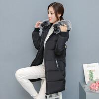 棉衣女中长款女棉袄时尚韩版修身显瘦女装 M (建议80-100斤)