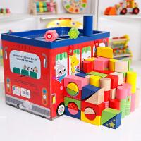 儿童积木玩具1-2-3-6周婴儿一岁半男孩宝宝木质大块积木女孩