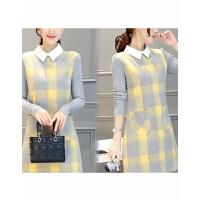 毛呢打底衫女长袖秋季韩版中长款加厚上衣保暖百搭女士外穿秋衣款 1 姜黄色