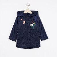 【全场2件2.5折,到手价:99.8】moomoo童装女童棉服中长款2019新款春装绣花洋气中大儿童外套
