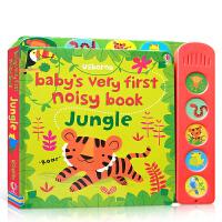 【全店300减100】宝宝的首本发声书 丛林 Baby's Very First Noisy Book Jungle 英