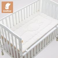 威尔贝鲁(WELLBER) 彩棉婴童床垫小床褥婴儿床垫宝宝褥垫子儿童床垫