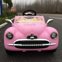 儿童电动车遥控可坐人四轮汽车玩具车小孩宝宝充电摇摆童车 靓粉色◆带遥控◆带摇摆