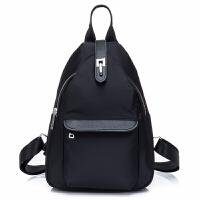 韩版书包双肩包女帆布小背包学生大容量旅行包时尚潮流行李包 黑色