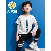 大黄蜂男童夏装 儿童短袖t恤2019新款男孩韩版洋气休闲潮男童短袖