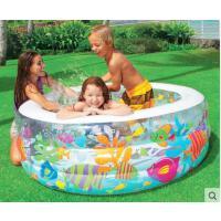 可爱图案防爆海洋泳池充气游泳池 儿童宝宝婴儿游泳池 家用 加大 加厚