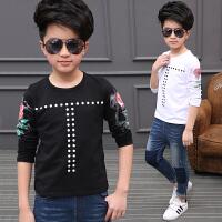 男童T恤长袖季新款童装中大童宽松体恤上衣儿童打底衫潮