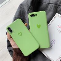 X9s抹茶绿爱心vivoX23硅胶套X7 X20plus简约全包X21i女款软手机壳 X7-茶绿 线条爱心