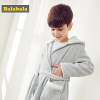 巴拉巴拉儿童睡衣睡袍秋冬新品长袖保暖大童男童家居服加厚空调服