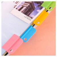 韩国文具随意夹 糖果色书签分类夹 随意食品袋密封夹 6个装