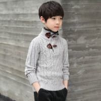 男童高领加绒毛衣儿童冬装2018新款中大童保暖针织衫宝宝加厚上衣