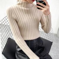 半高领毛衣女韩版打底衫秋冬新款加厚长袖套头上衣针织衫yly