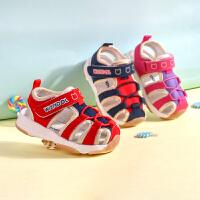 0-1-3岁男女机能学步鞋夏季婴儿宝宝织布鞋子凉鞋包头软底鞋